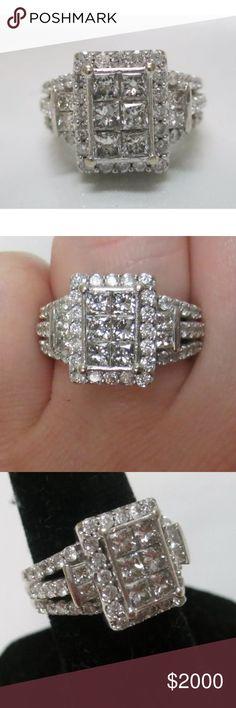 *LAST DAY* 2.80 carat 14k white gold diamond ring Stunning 2.80 carat 14k white gold diamond ring Jewelry Rings