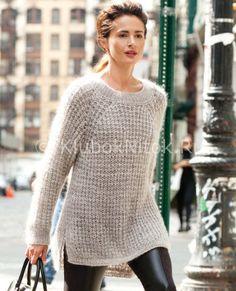 Стильный пуловер-туника | Вязание для женщин | Вязание спицами и крючком. Схемы вязания.
