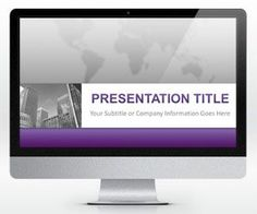 Free Corporate Business PowerPoint Template is a free template for business presentations in widescreen mode that you can download to make awesome and original PowerPoint presentations with a purple background
