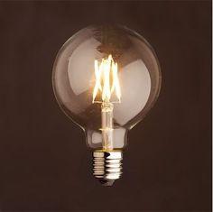 LED Small Edison Globe Filament Light Bulb – Edison Squirrel cage Light Bulb – led lamp – modern lamp – modern light -home - Cage Light, Light Bulb, Led Filament, Restaurant Lighting, Deco Design, Style Vintage, Led Lamp, Lamps, Modern Lighting