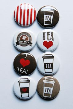 I Love Tea Flair by aflairforbuttons on Etsy, $6.00