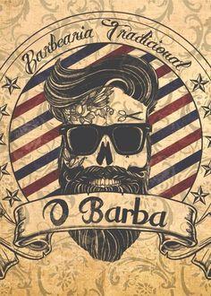 placas decorativas barbearia barber shop vintage 20x30cm Barber Logo, Barber Tattoo, Tattoo Shop Decor, Hairdresser Tattoos, Tattoo Posters, Barber Shop Decor, Barber Shop Vintage, Barbershop Design, Oldschool