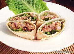 Aprende a preparar wrap de atún con queso con esta rica y fácil receta.  Los wraps son esos sándwiches enrollados que pueden hacerse de casi cualquier cosa. En esta...