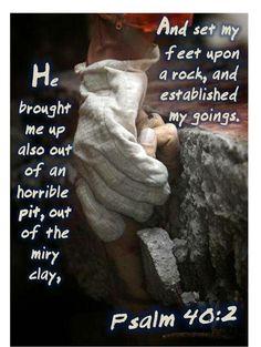 Psalm 40:2 - Blue