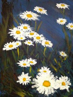 "Saatchi Online Artist: Steve Gamba; Acrylic, 2010, Painting ""Daisies"""