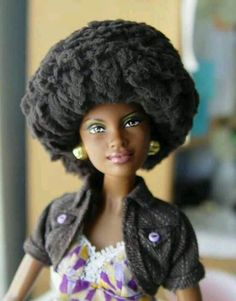 Love it, looks like a black cotton ball glued to her head!!
