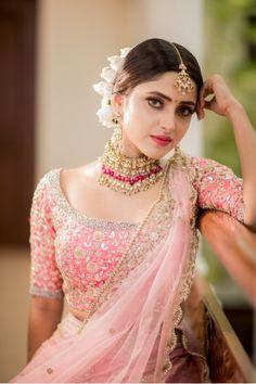 Lehenga Saree Design, Pink Lehenga, Saree Blouse Designs, Punjabi Dress, Lehnga Dress, Wedding Lehenga Designs, Saree Wedding, Wedding Dress, Indian Actress Hot Pics