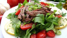 Rumpsteak-Salat