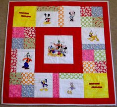 Mickey Mouse and Gang Baby Quilt by ScrapsHappenTn on Etsy, $50.00