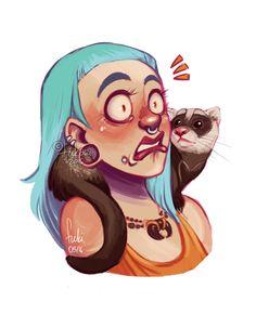 ferret by Fukari on @DeviantArt