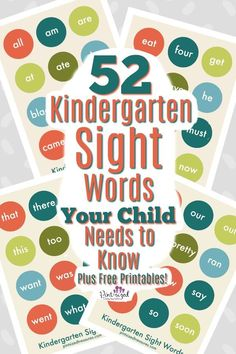 Sight words are crazy important for a solid learning foundation. Find out the 52 kindergarten sight words every child should know and how to teach them! Kindergarten Flash Cards, Kindergarten Activities, Preschool Literacy, Learning Sight Words, Sight Word Practice, Free Printable Flash Cards, Free Printables, Kids Learning, Teaching Kids