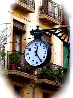 Silter Street Clock in the Calle de la Princesa in Barcelona Catalonia by Arjan Richter, via Flickr