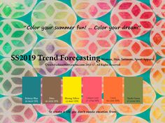 SS2019 Trend Forecasting for Women, Men, Intimate, Sport Apparel - Color your summer fun! … Color your dream    www.JudithNg.com
