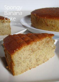 New cake mix banana bread puff pastries 48 Ideas Moist Banana Cake Recipe, Cake Mix Banana Bread, Banana Bread Recipes, Banana Cake With Oil, Banana Chiffon Cake Recipe, Banana Cakes, Sponge Cake Recipes, Easy Cake Recipes, Dessert Recipes