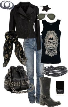 Edgy Casual- Perfect outfit for a day off.