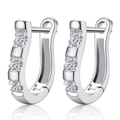 Pure Sterling Silver Horse Shoe Earrings