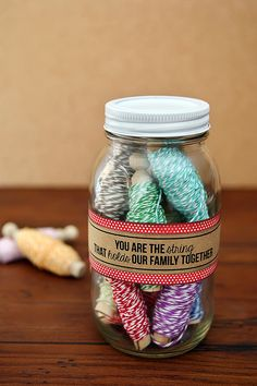 eighteen25: Mothers Day Gift - jar of twine with fun saying