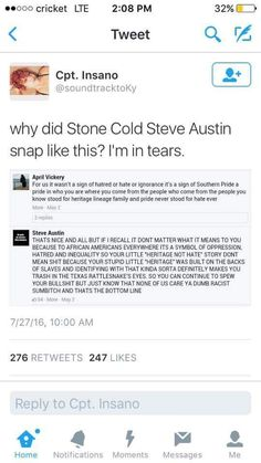 Stone cold Steve Austin strikes again! Stone Cold Steve, Steve Austin, Intersectional Feminism, Faith In Humanity, Social Justice, Real Talk, Memes, True Stories, Thoughts