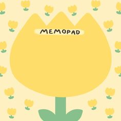 tulip memo, by duangdaoforu Cute Notes, Good Notes, Memo Notepad, Note Doodles, Cute Journals, Note Memo, Note Paper, Writing Paper, Sticky Notes