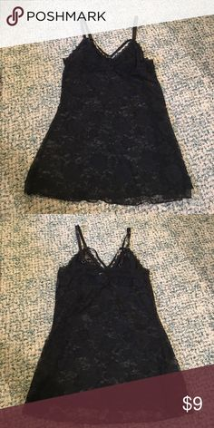 🎉 Black Lace Lingerie Sexy/cute black lace slip from Forever 21! Worn once, in great condition. Cut the tags off, but size small. Forever 21 Intimates & Sleepwear Chemises & Slips