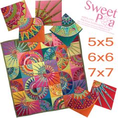 Beauty block and quilt 5x5 6x6 7x7 in the hoop machine embroidery desi | Sweet Pea Machine Embroidery Designs