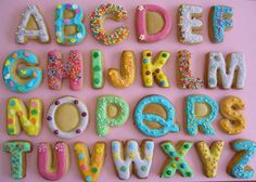 Alphabet Cookies | Flickr - Photo Sharing! ABC cookies in red, gold, chocolate and yellow
