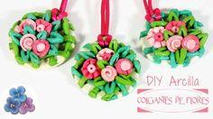 DIY Accesorios: Colgante de Flores con Arcilla de Colores | Aprender manualidades es facilisimo.com