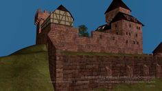 Die Burg in Wildberg im Landkreis Calw/Nordschwarzwald wurde in der Stauferzeit (12./13. Jahrhundert) erbaut und im Jahre 1618 zerstört. Später wurden die Überreste als Grundmauern für ein Schloß genutzt, dass aber im Februar 1945 bei einem Bombenangriff beschädigt wurde und danach abgerissen wurde. Heute stehen nur noch einige Mauerreste an diesem geschichtsträchtigen Platz.  Wir haben die Burg nach alten Unterlagen 2010 wieder als 3D Animation aufgebaut und zur Anschauung in das heutige…