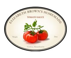 Personalized labels for your homemade tomato sauce or salsa.