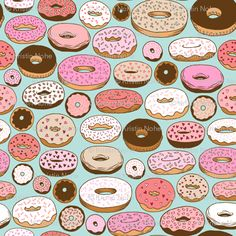 donuts on blue