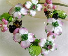 Dogwoods :) Lampwork Beads