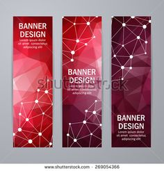 Set of templates for design of vertical banners, covers, posters, web pages in geometric graphic style. Banner Design Inspiration, Web Banner Design, Corporate Logo Design, Brochure Design, Ppt Template Design, Templates, Rollup Design, Ticket Design, Geometric Graphic