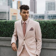 when your date shows up in a blush pink suit. 💕 Suit from at Pink Suit, Blush Pink, Suit Jacket, Prom, Suits, Photo And Video, Jackets, Instagram, Fashion