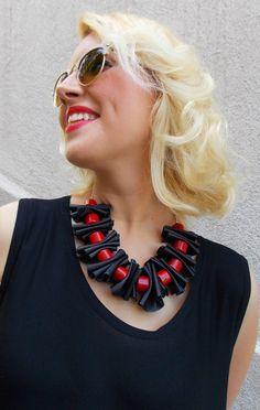 Collar turquesa rojo / rojo joyería turquesa collar de por Teyxo