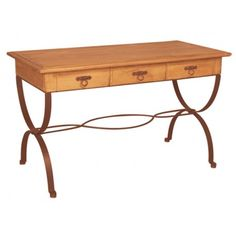 This is a solid wood iron and pine rustic desk . We have also several pine furniture like solid wood desk pine country desk pine cabinet and much more to.