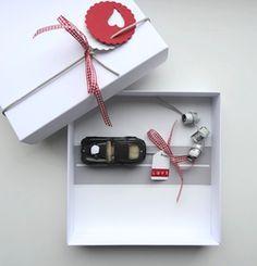 Geldgeschenk zur Hochzeit: Geschenkschachtel Just Married Auto