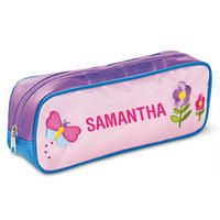 Butterfly and Flowers Fabric Pencil Case $13