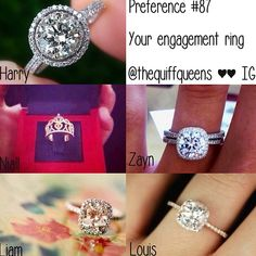 Don't know what the whole One Direction thing is here, but love the engagement rings (except Niall's/middle left).