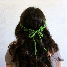 Shamrock Flower Crown: Free Crochet Pattern