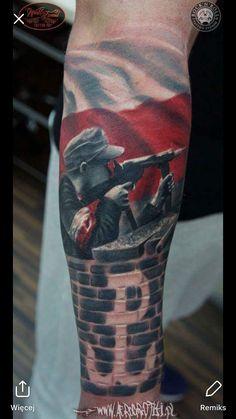 Arm Tattoo, Sleeve Tattoos, Picture Tattoos, Cool Tattoos, Polish Tattoos, Freedom Fighters, History, Artistic Tattoos, Military Tattoos