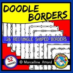 #DOODLE #BORDERS: Grab these 52 FUN BORDERS and give an instant lift to your resources! #page borders