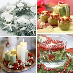 Cool and Stylish Christmas Candle Lights Decorating Ideas white bouquet