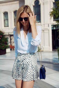 Leopard silk shorts