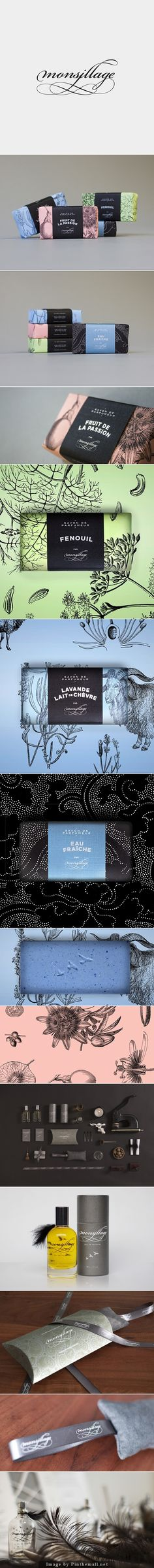 Monsillage by Phillipe Archontakis gorgeous soap and sundry packaging curated by Packaging Diva PD