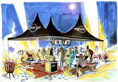 event for MINI / storyboard. Event Marketing, Storyboard, Fair Grounds, Events, Technology, Mini, Painting, Tech, Painting Art