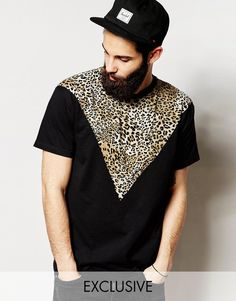 Reclaimed Vintage T-Shirt With Leopard Print