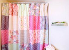 Patchwork Shower Curtain by Caroline from Sew Can She