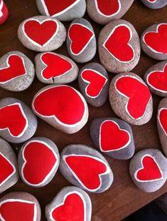 Rock Painting Ideas - Paint A Heart