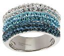 Steel By Design Ombre Crystal Triple Band Ring