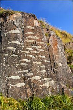 Rock Carvings in Qaqotorq Greenland